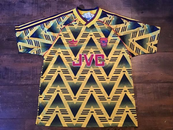 1991 1993 Arsenal Away Football Shirt Bruised Banana Medium Large